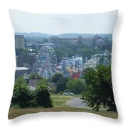 Theme Park Throw Pillow