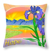 Themes Of The Heart-hope Throw Pillow
