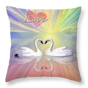 Themes Of The Heart-love Throw Pillow