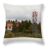 Grand Traverse Lights - Then And Now Throw Pillow