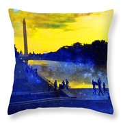 Then The Light Came Swiftly Throw Pillow