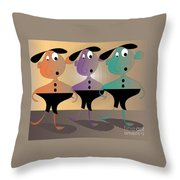 Then There Were Three Throw Pillow