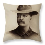 Theodore Roosevelt 1898 Throw Pillow