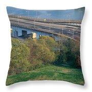 Theodore Roosevelt Bridge, Washington Throw Pillow