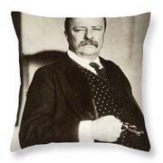 Theodore Roosevelt(1858-1919) Throw Pillow
