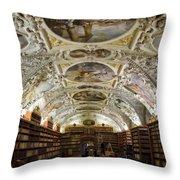 Theological Hall Strahov Monastery Throw Pillow