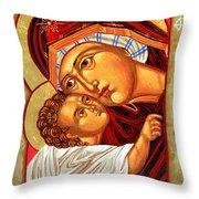 Theotokos Throw Pillow