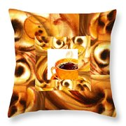 There Is A Coffee At The End Of The Tunnel  Throw Pillow