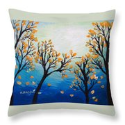There Is Calmness In The Gentle Breeze Throw Pillow