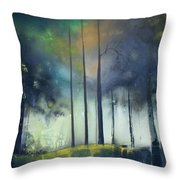 There Is Light At The End Of The Woods Throw Pillow