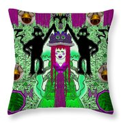 There It Is The Fantasy Panda Hat Throw Pillow