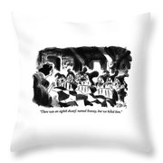There Was An Eighth Dwarf Throw Pillow