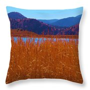 There's A Lake Over There Throw Pillow