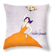 There's A Wah Wah Gal In Agua Caliente Throw Pillow