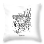 There's More Inside Throw Pillow