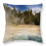 Thermal Landscape Throw Pillow