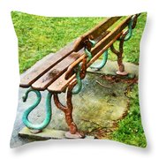 These Are No Snakes In The Grass Throw Pillow