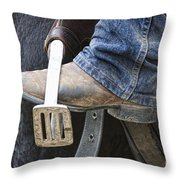These Boots Are Made For Working Throw Pillow