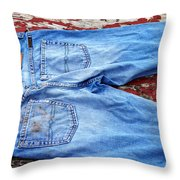 These Old Jeans Throw Pillow
