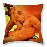 Theseus And The Minotaur Throw Pillow