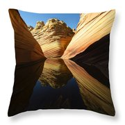 The Wave Reflected Beauty 1 Throw Pillow