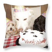 They Are Eating My Cake Throw Pillow