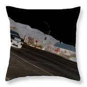They Drive By Night Throw Pillow