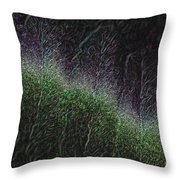 They Grow At Night Throw Pillow