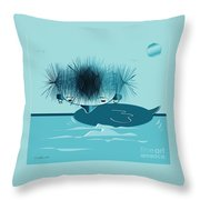 They Say I'm A Beautiful Swan Throw Pillow