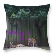 They Will Never Think It Was Us.. Throw Pillow