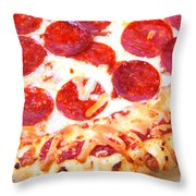 Thick Crust Peperoni Pizza Throw Pillow