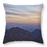Thimble Peak At Sunset Throw Pillow