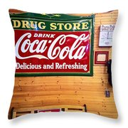 Things Go Better With Coke Throw Pillow