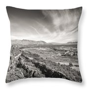 Thingvellir Iceland Black And White Throw Pillow
