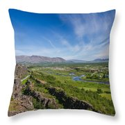 Thingvellir Iceland Throw Pillow