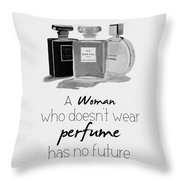 Think About Your Future Throw Pillow