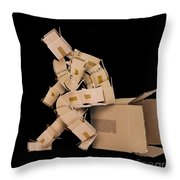 Think Outside The Box Concept Throw Pillow