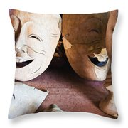Think That's Funny Throw Pillow