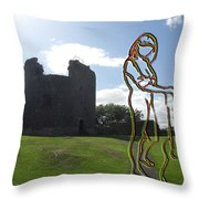 Thinking About The Castle Throw Pillow