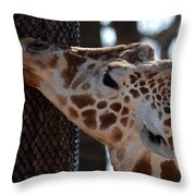 Thinking Africa Throw Pillow