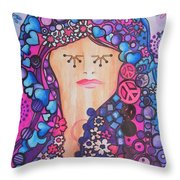 Thinking Of Peace Throw Pillow