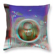 Thinking Inside The Box - Red/cyan Filtered 3d Glasses Required Throw Pillow