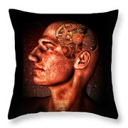 Thinking Man Throw Pillow