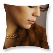 Thinking Of The Past Throw Pillow