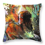Thinking Of Tolere Throw Pillow