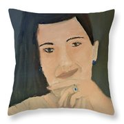 Thinking Of What To Do Next Throw Pillow by Pamela  Meredith