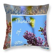 Thinking Of You 2 Throw Pillow