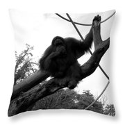 Thinking Of You Black And White Throw Pillow