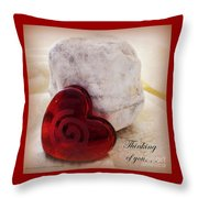Thinking Of You Greeting Throw Pillow