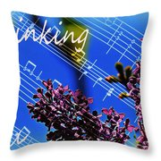 Thinking Of You  - Memories - Music Throw Pillow